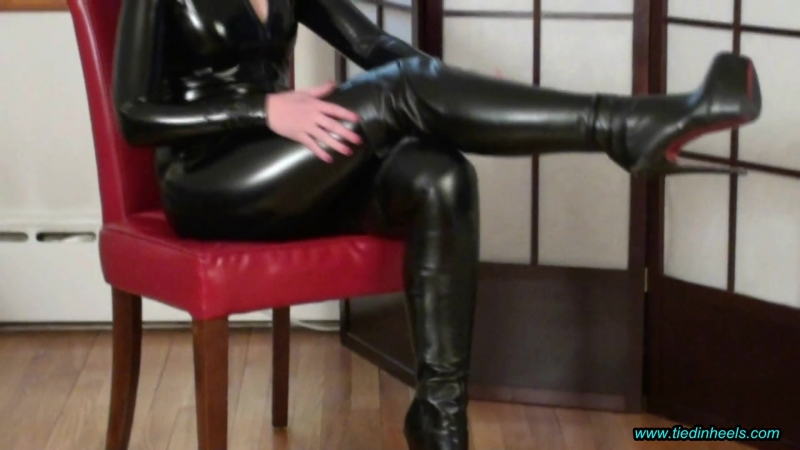 Rachel Adams Black Leather Boots HH 2018