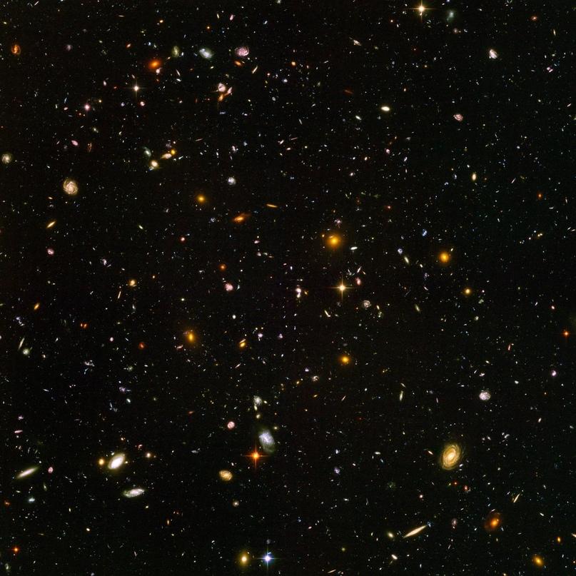 Одна из наиболее известных фотографий, сделанная космическим телескопом Хаббл – ближайшие к нам 2000 галактик