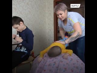 """""""Всех женщин призываю никогда не унывать"""". Жительница Башкирии в одиночку воспитывает троих детей с ДЦП"""