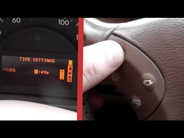 How to configure clock on Mercedes W203 Setting the clock by means of the onboard computer W203