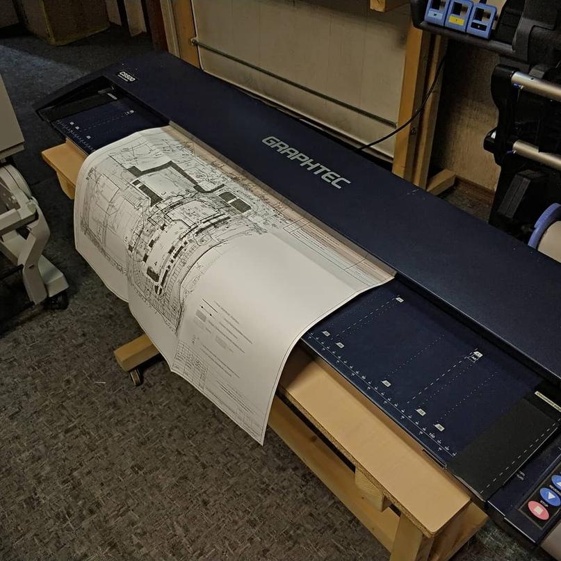 Широкоформатное сканирование чертежей, плакатов. Максимальная ширина 1000мм. - Типография Седьмой Легион