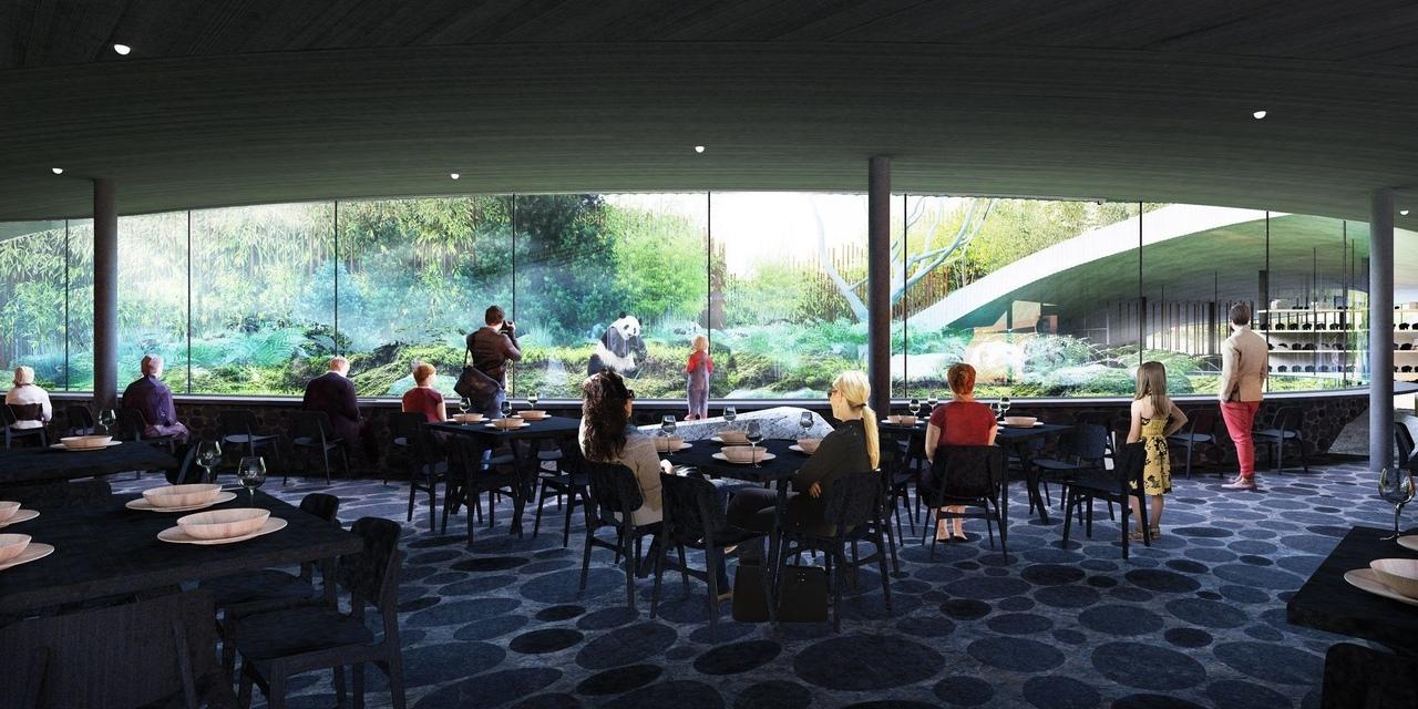BIG unveils yin-and-yang-shaped Panda House for Copenhagen Zoo