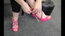 Review Try On Pleaser Amuse-15 Pink 5 Inch High Heel Shoes