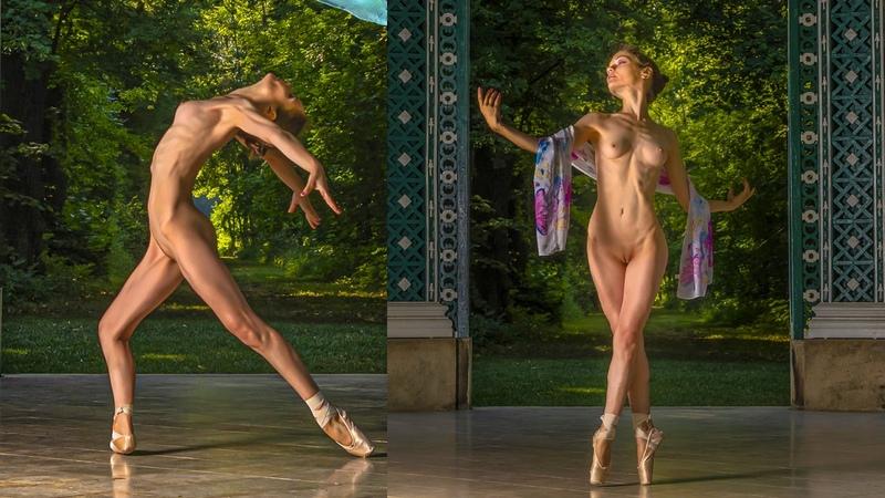 NUDE DANCE Prima Ballerina on stage