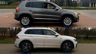 Volkswagen Tiguan I vs VW Tiguan II - 4Motion - 4x4 test on rollers