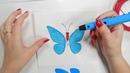 Обзор 3D-ручки Feizerg F001. Рисуем бабочку