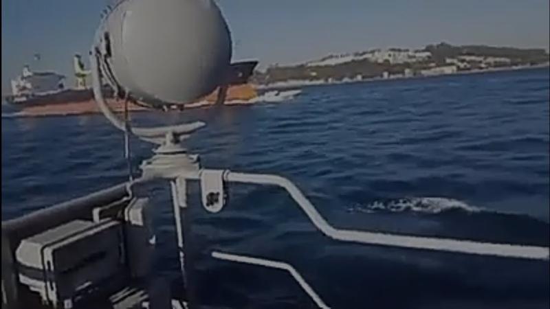 Авария в проливе Босфор балкер и катер турецкой береговой охраны Ненормативная лексика