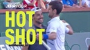 Hot Shot Fogninis Around-The-Net Shot Of The Week Contender In Indian Wells 2019