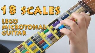 18 Scales on Lego Microtonal Guitar