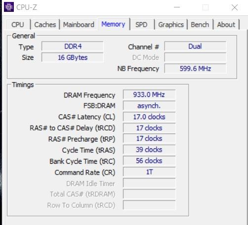 CPU-Z - Оперативная память