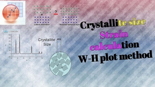 Crystallite size and strain calculation from Williamson hall plot from XRD diffraction Data