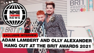 Here's Adam Lambert and Olly Alexander hanging out on the red carpet | Brit Awards 2021