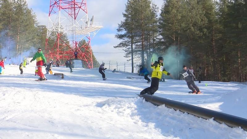 Чемпионат по женскому волейболу сноубордисты закрыли сезон фестивалем Снежные человечики
