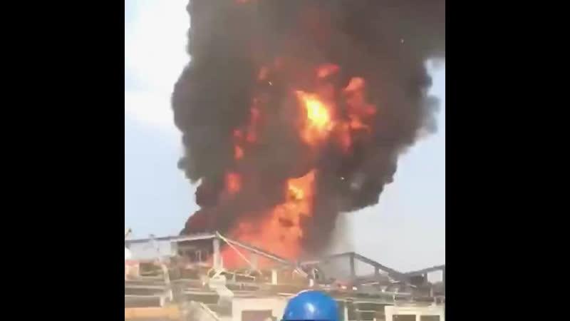 Опять большой пожар в Бейруте