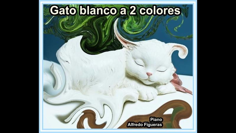 Gato blanco a 2 colores Piano Alfredo Figueras Partituras Gratis Argentina