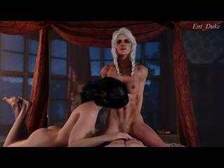 Ciri  Yen fun time with Geralt [The Witcher] (Ent_Duke)