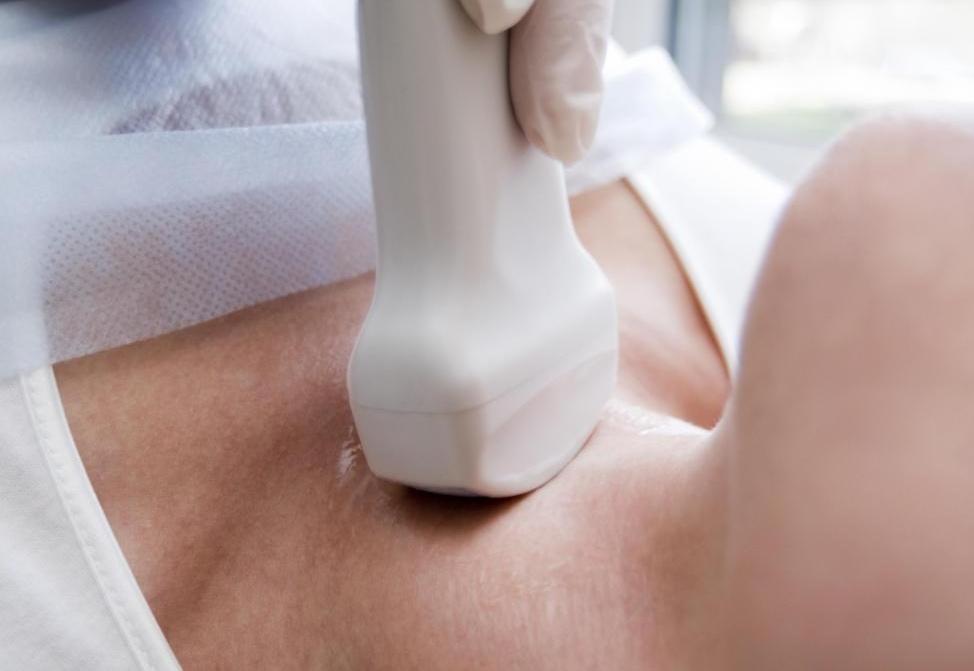 Ультразвуковые преобразователи могут использоваться на многих участках тела.