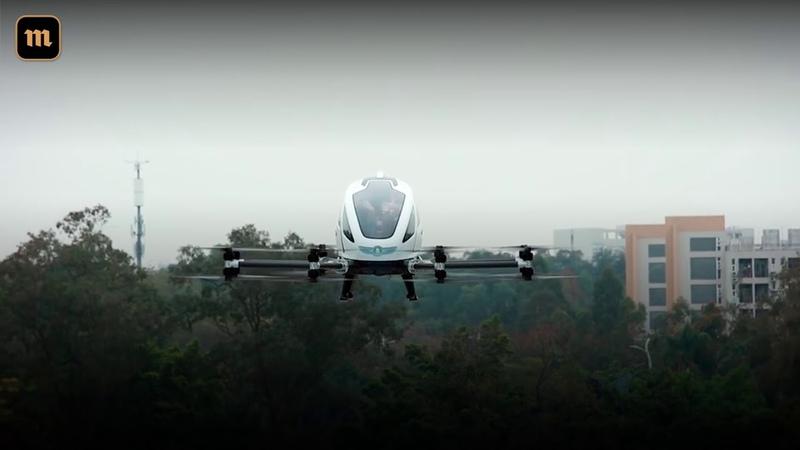 Китайский такси-дрон впервые поднялся в воздух с пассажирами