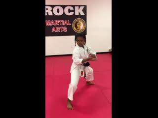 9 year old black belt_⁄ gekki sai sho kyokushin kata