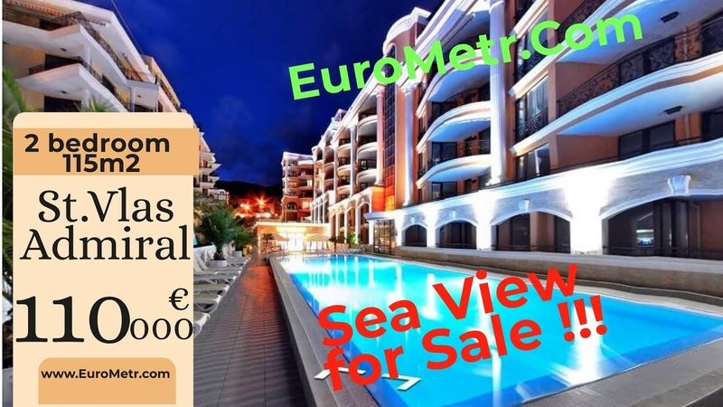 Admiral St.Vlas 2 bedroom apartment with Sea view. Price 115 000 euro