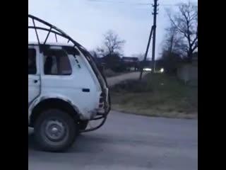 Необычная Нива, созданная каскадерами из Новокубанска