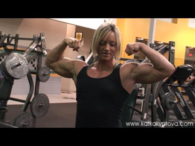Biceps Workout - Katka Kyptova and Amber DeLuca