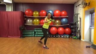 Yvette Bachman - 40 minute KICKBOXING/CORE at home WORKOUT | Интенсивная кардио-тренировка на основе кикбоксинга