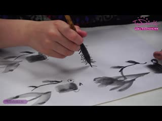 Рисуем рыбок в китайской технике гохуа