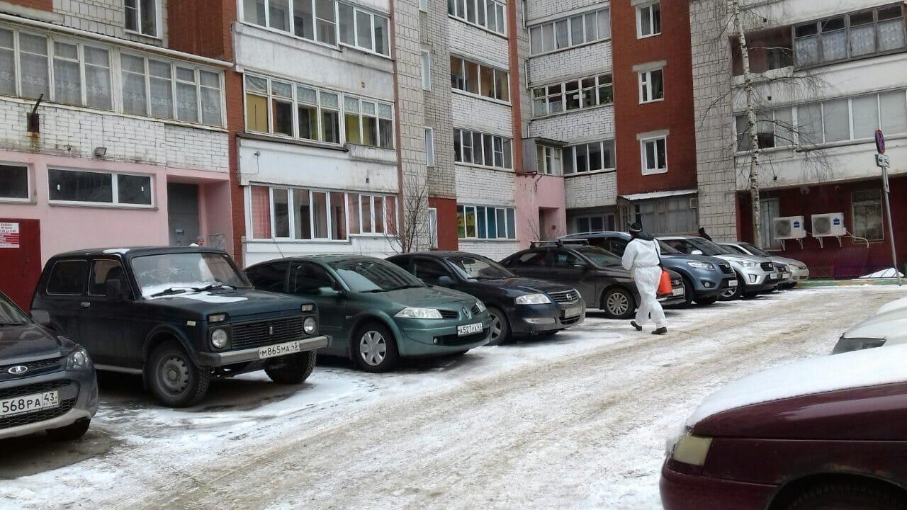 произведена дезинфекция мест общего пользования улица Московская