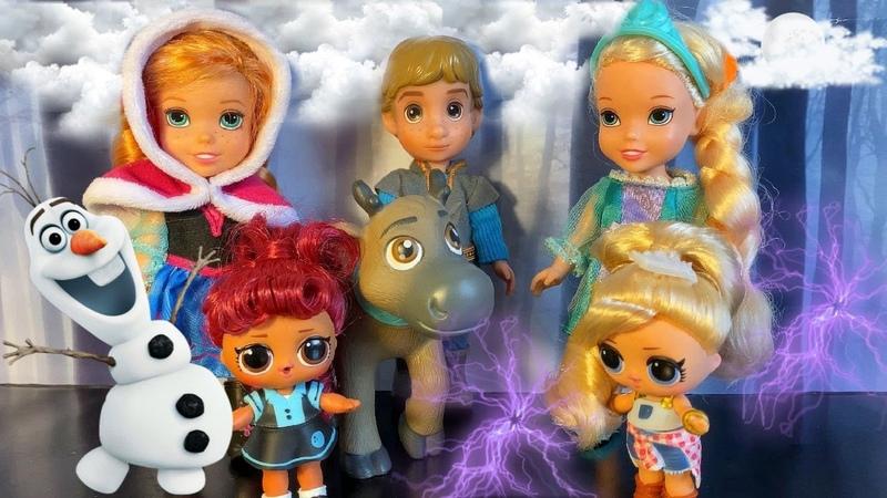 Мультик Куклы Лол Куклы Лол в Королевстве Эльзы и Анны Заколдованный Олаф Холодное Сердце 2 Серия