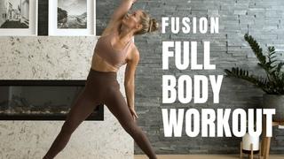 Тренировка всего тела на основе йоги - Без снаряжения, без прыжков. Yoga Inspired / FULL BODY WORKOUT / No Equipment, No Jumping!