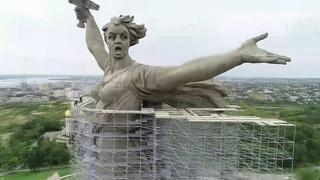 """К 75-й годовщине Победы в Волгограде будет завершена реконструкция скульптуры """"Родина-Мать""""."""