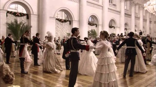 "The ballroom scene from ""Russian Ark"""