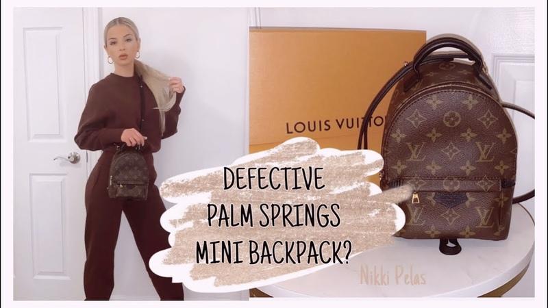 LOUIS VUITTON PALM SPRINGS MINI BACKPACK Review What fits Defective NIKKI PELAS