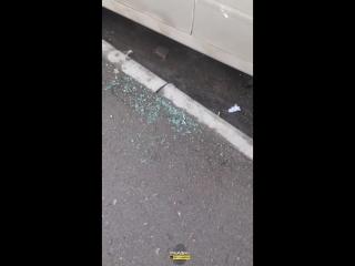 Новосибирск. Разбитый автомобиль.