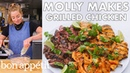 Molly Makes Coconut Grilled Chicken Steak and Shrimp From the Test Kitchen Bon Appétit