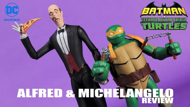 Mikey Alfred 2 Pack Batman vs TMNT DC Collectibles Figure Review
