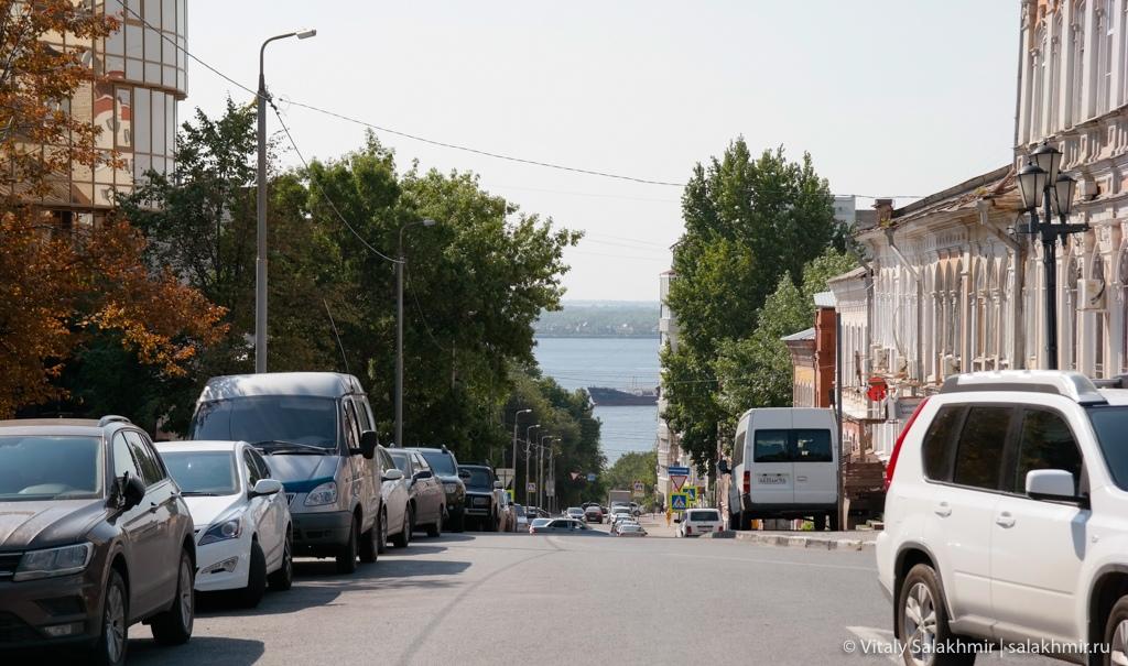 Дорога до набережной в Саратове 2020