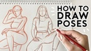 HOW TO DRAW POSES- Half Body Sitting Poses | Drawing Tutorial