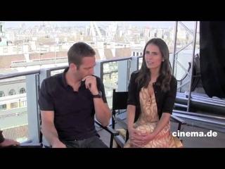 Jordana Brewster and Paul Walker Fast & Furious 6 interview