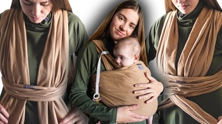 """Намотка слинга """"Крест под карманом"""" 👶 Как надеть трикотажный слинг-шарф Love&Carry"""