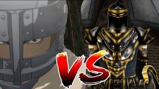 Guts vs Gaenor Morrowind meets Berserk Battle