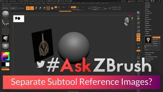 #AskZBrush: How can I load reference images into ZBrush as a separate subtools