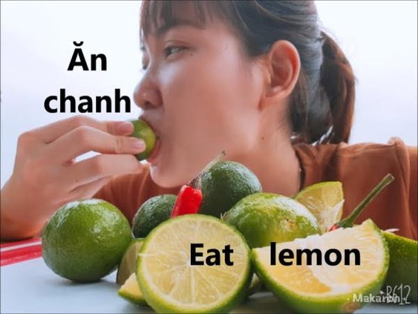 Eat lemon challenge 🍇THỬ THÁCH ĂN CHANH 🍇 Ăn chanh siêu cay và cái kết challenge