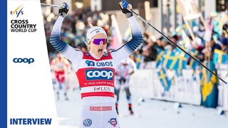 Stina Nilsson | Very hard frost | Ladies' Sprint | Falun | FIS Cross Country