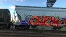 FREIGHT TRAIN GRAFFITI ALL BURNERS MODE BENCHING VID 173