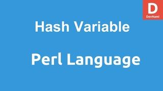 Perl Programming Hash Variable