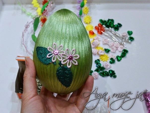 Авторские шелково-ленточные пасхальные яйца! дом мастерская чудес!