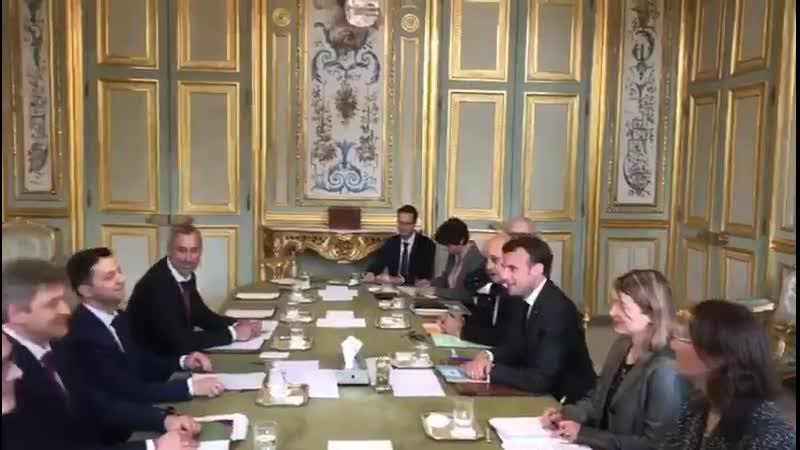 Зеленський та Макрон зустрілися у Парижі 12 04 19