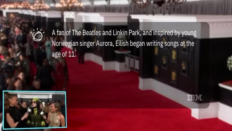 Billie Eilish дала интервью на ковровой дорожке Шестикратный номинант на грэмми в кастомном Гучи Снял despise @fack off 03